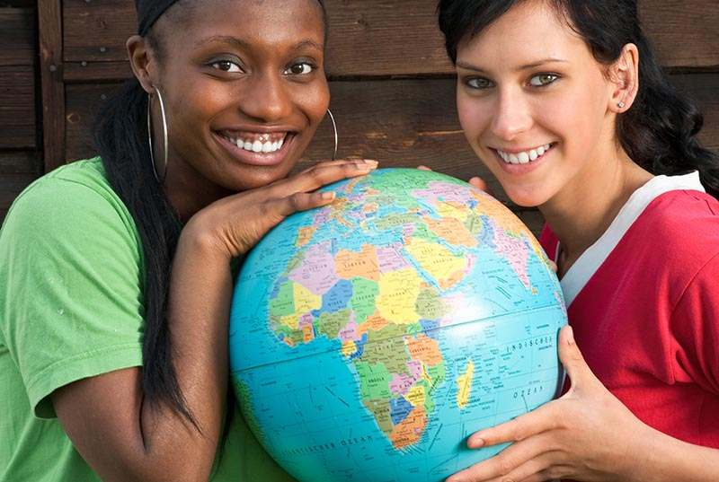 Globus, Afrika, Europa
