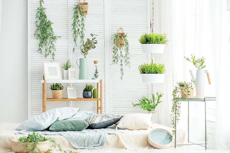 Dekoriertes Wohnzimmer Trend 2018