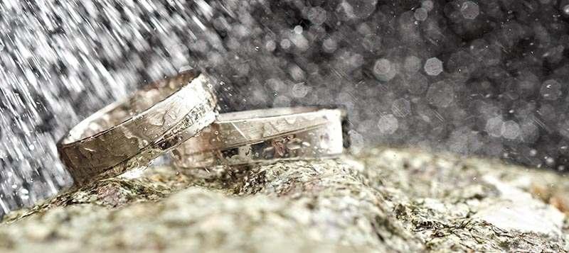 Ringe im Regen