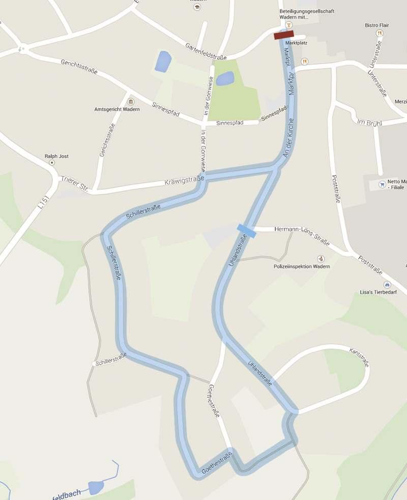 Stadtkarte Wadern Schülerlauf