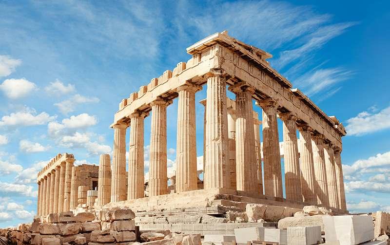 Griechiche Bauten, Ruinen, Akropoles