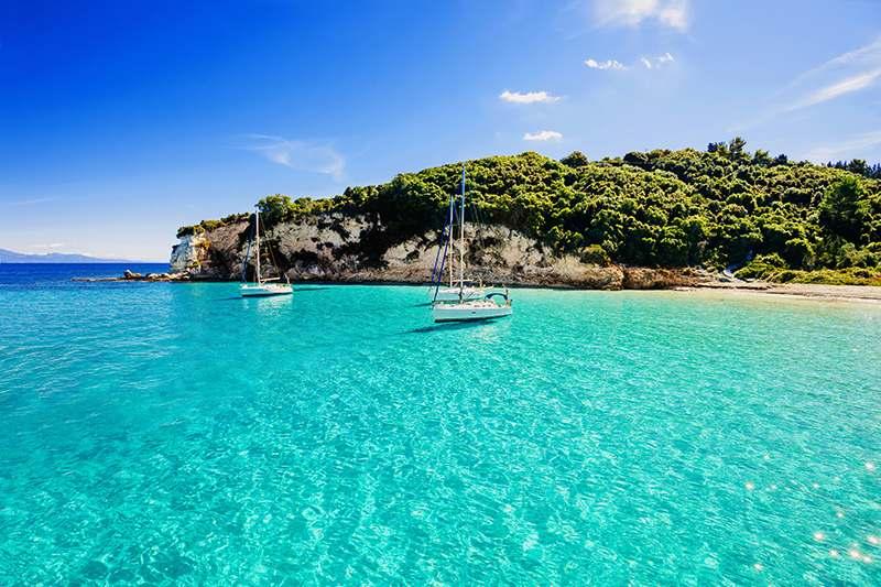 Ausböick auf das Meer von einer grichischen Insel