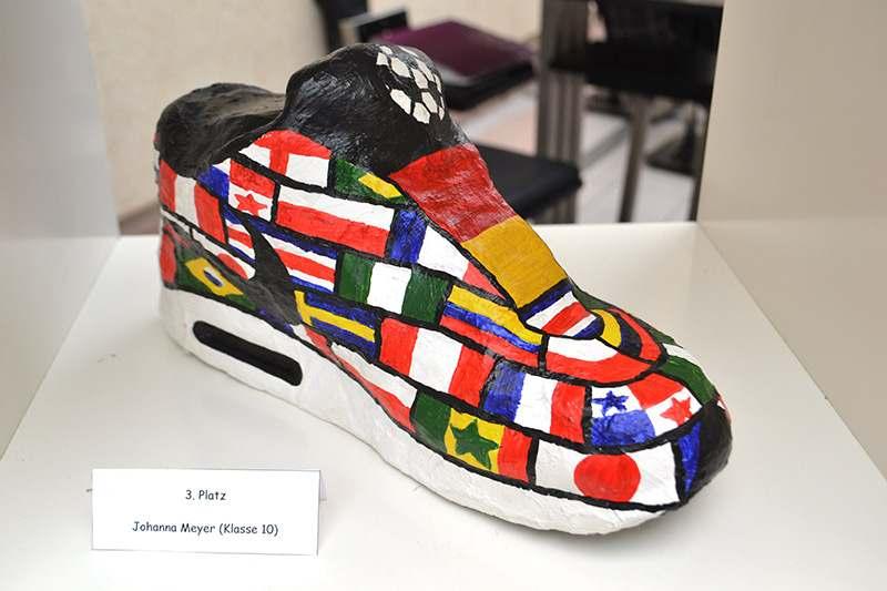 Drittplatzierter Schuh