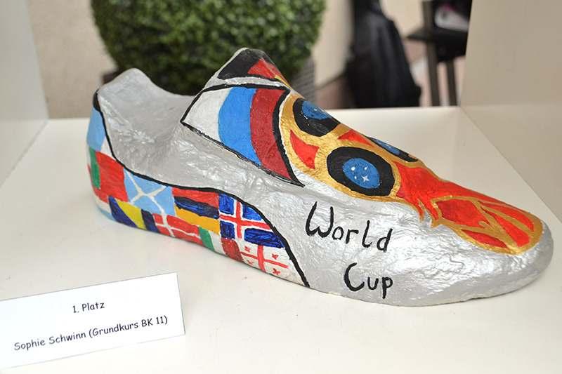 Erstplatzierter Schuh