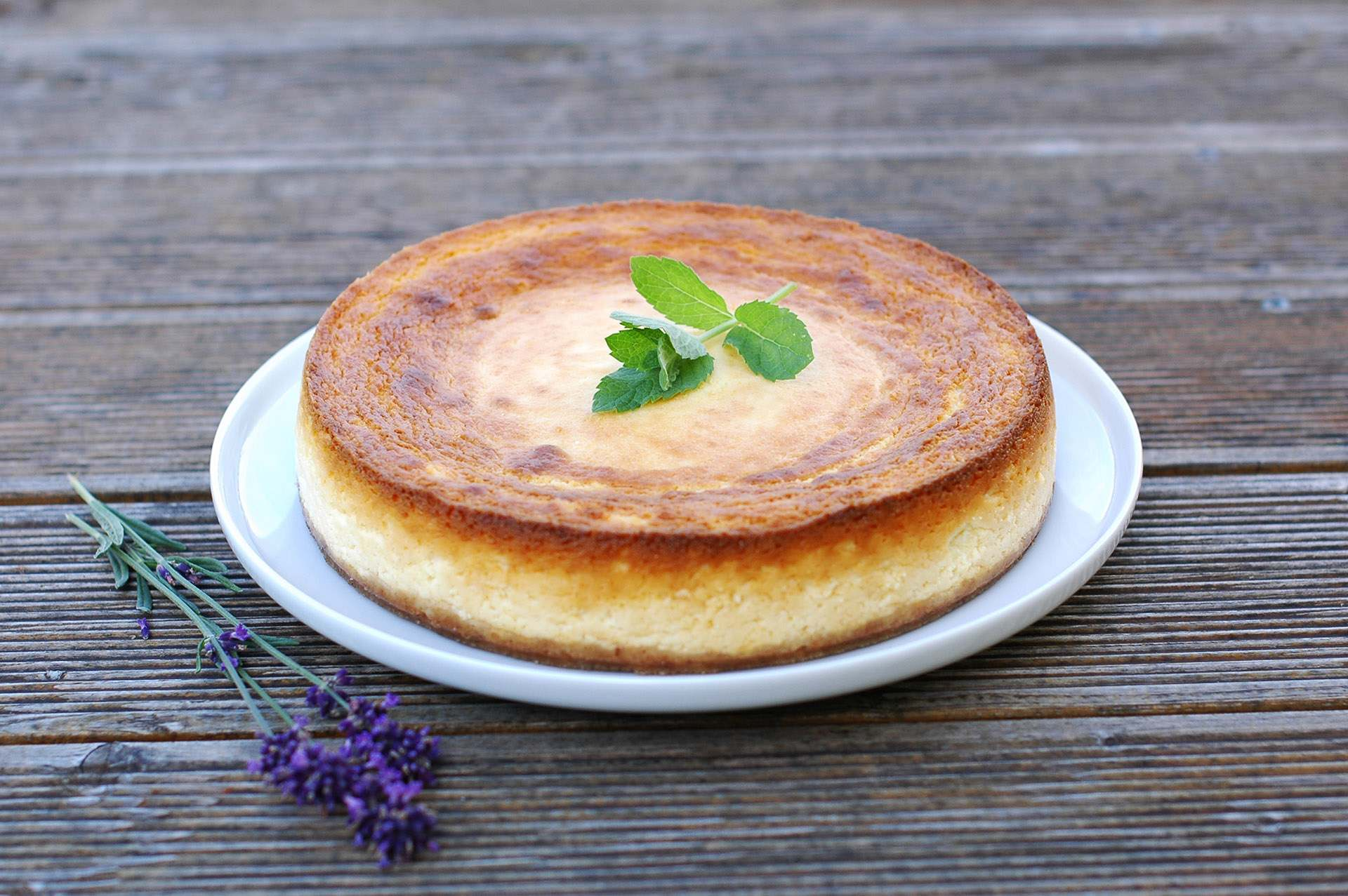 Lavendel Käsekuchen