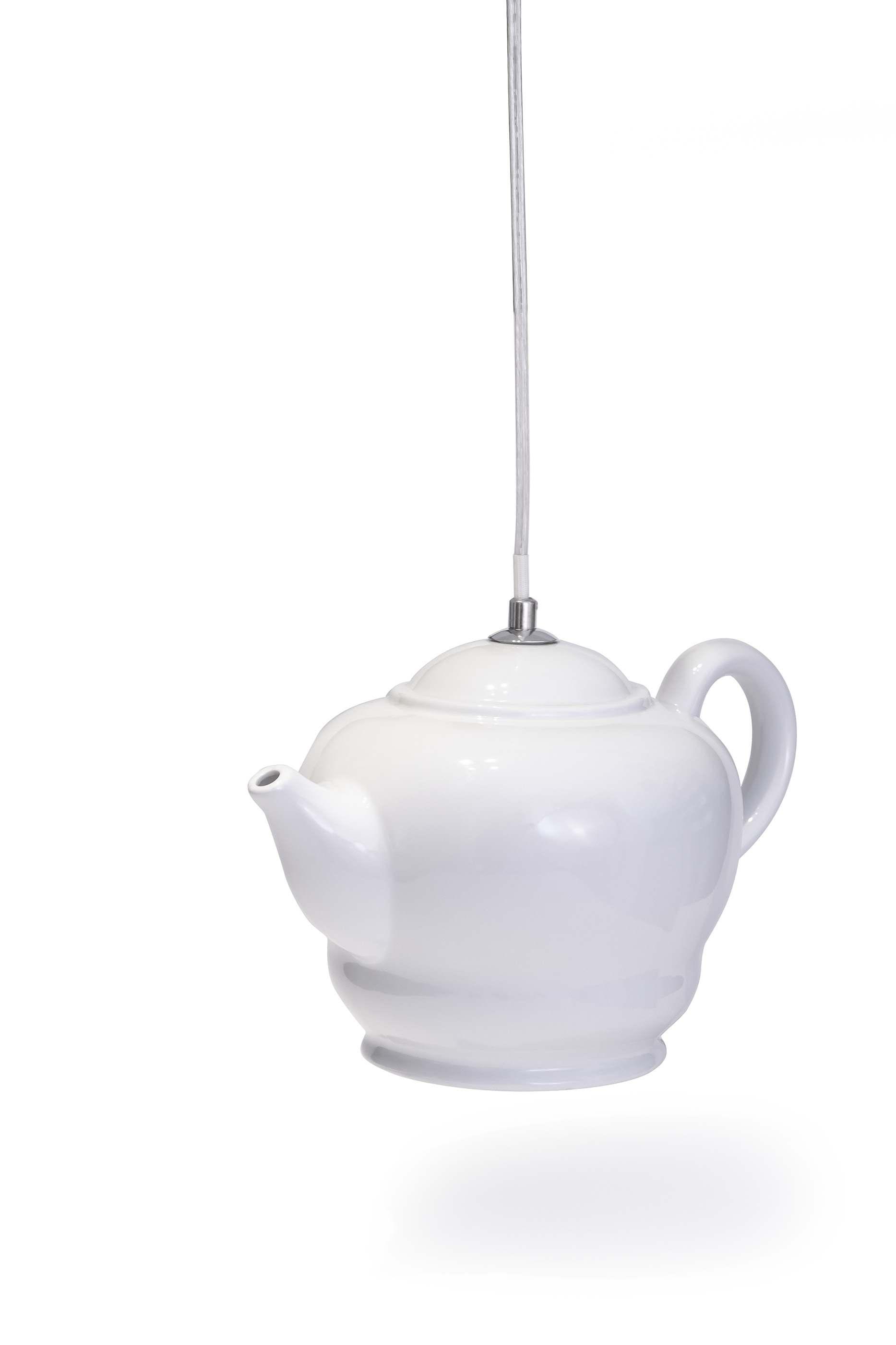 Lampe in Form einer Teekanne