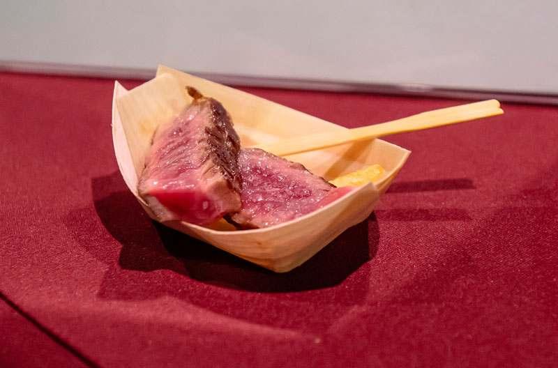 Steak No One im Bambus-Schälchen