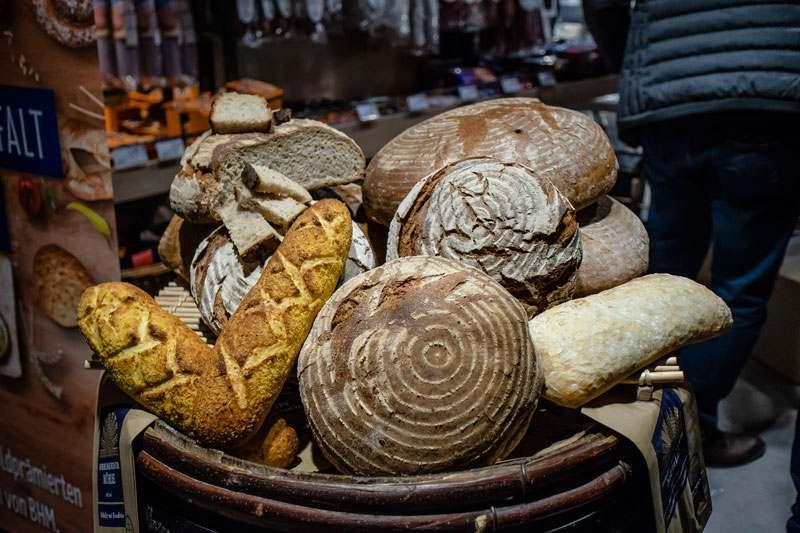 verschiedene Brotsorten der Bibelhausener Mühle