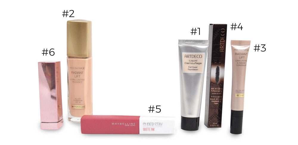max factor, maybelline, artdeco, camouflage, make-up, lipstick, lippenstift, concealer