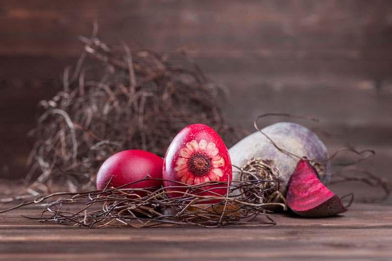 Eier färben mit Rote Beete