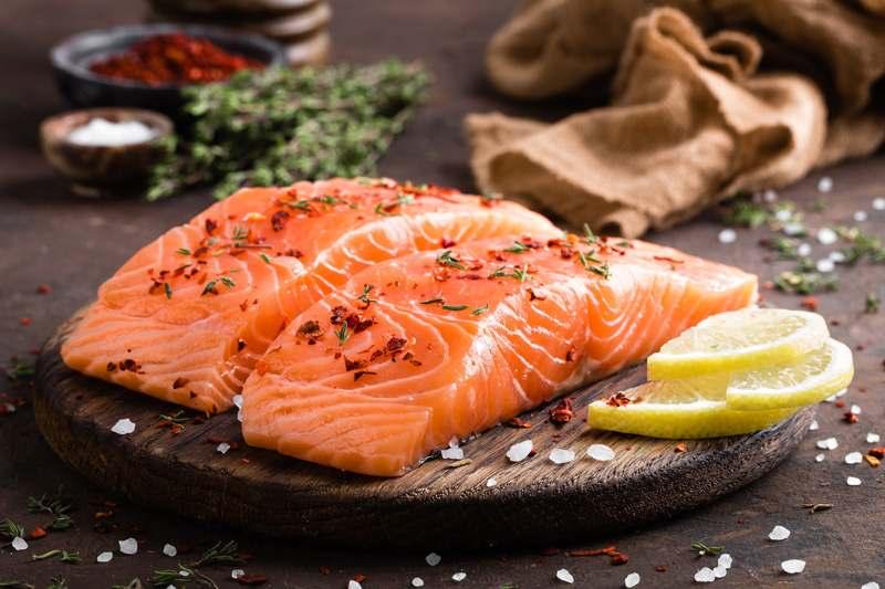Lachs, fetter Fisch