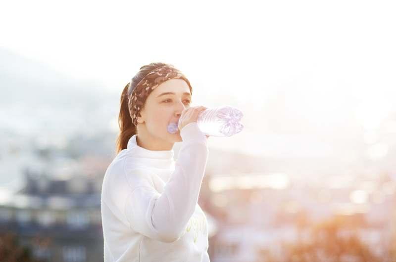Wasser trinken, Laufen in de Kälte