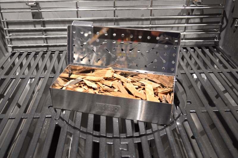 Räucherbox mit Woodchips