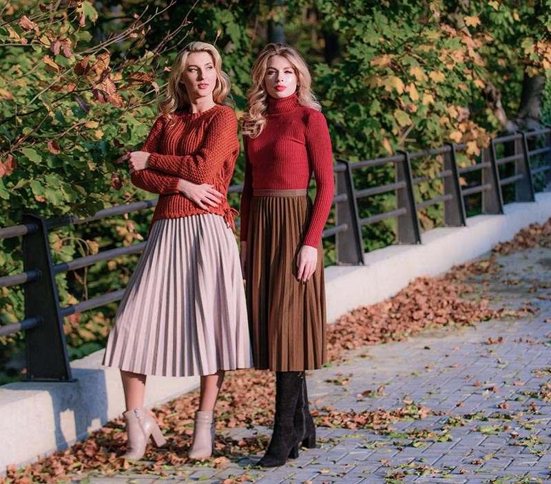 Faltenrock Herbst