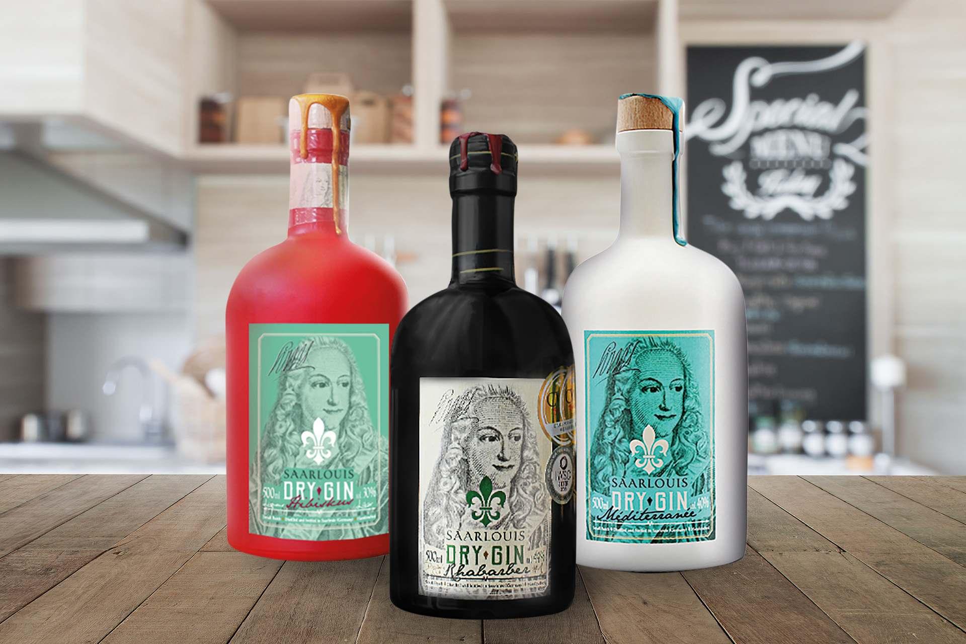 Gin Louis Hibiskus Likör, Saarlouis Dry Gin, Méditerranée